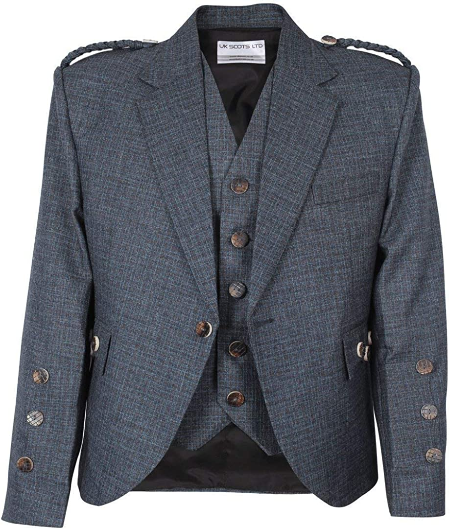 Blue Online limited product Argyll Jacket Serge Wool Limited time for free shipping Barathea Waistcoat Pure with