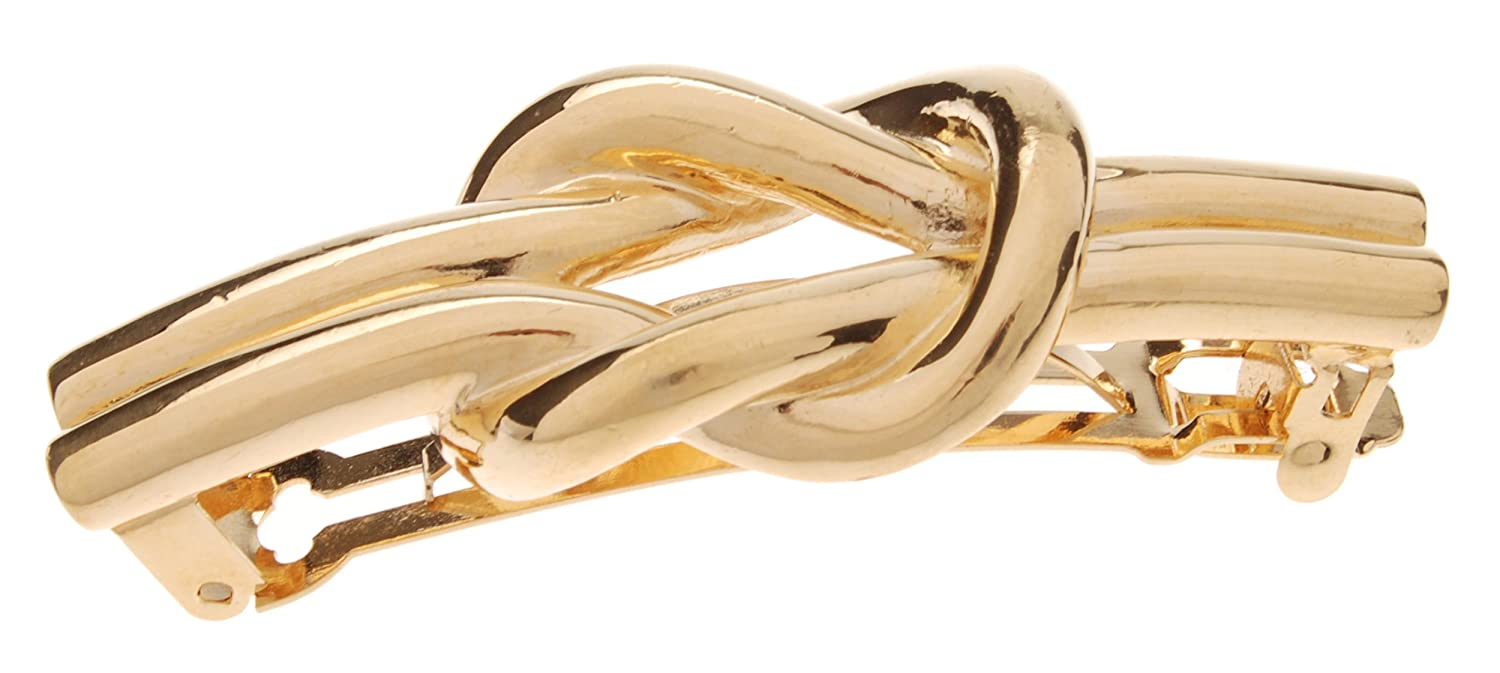 L. Erickson Nautical Knot Purchase Barrette Metal Max 76% OFF Gold -