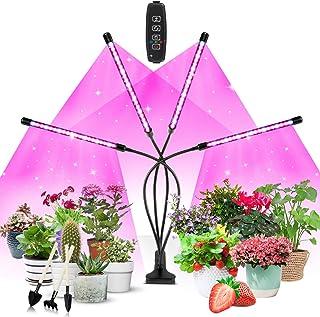 Växtlampa LED, växtljus, Corayer 80, odlingsljus, fullt spektrum, 10 dimmernivåer och 360° justerbar växtlampa med timer, ...