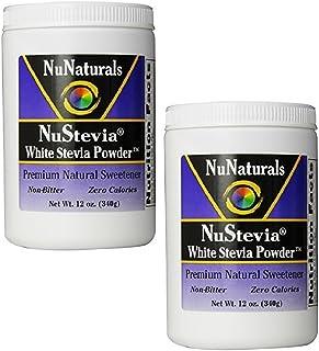 NuNaturals Nustevia White Stevia with Maltodextrin Powder, 12-Ounce (2-Pack)