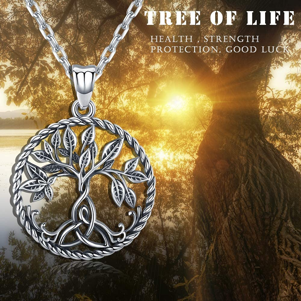 Buy Aniu Tree of Life Necklace, Celtic Family Tree Pendant for ...