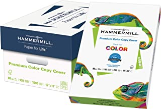 Hammermill Paper, Premium Color Copy Cover Cardstock, 17x11 Paper, 80lb Paper, 100 Bright, 4 Packs / 1000 Sheets (120037C) Heavy Paper, Card Stock White