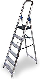 Escalera domestica de aluminio Altipesa (Aluminio, 6 PELDAÑ