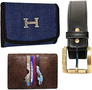 MUNDKAR Mens Accessories Combo Belt Wallet Card HOLER Combo (Offer_09)