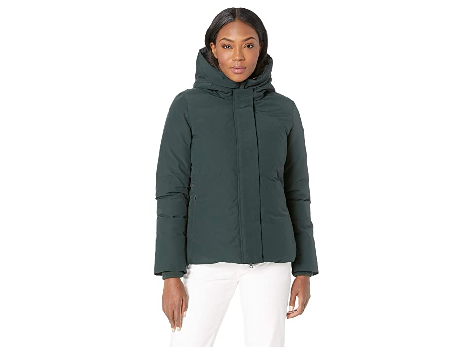 Save the Duck Short Coat with Faux Fur (Green/Black) Women