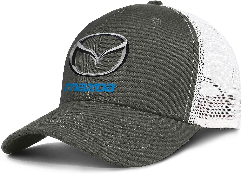 Beautiful Women Men Baseball Cap Fashion Sparkle Mazda-Logo- Adjustable Flat Cap Trucker Hat : Clothing, Shoes & Jewelry