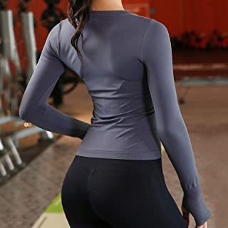 Camouflage Yoga wear Ladies Seamless Slim Breathable Fitness Yoga wear Long-Sleeved Tops Gym Push-up Sports Bra Camouflage...