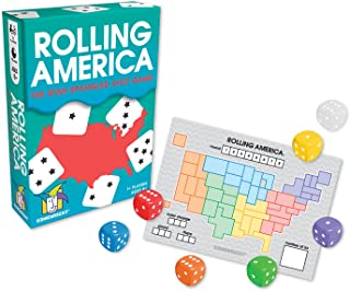 """Gamewright Rolling America, The Star Spangled Dice Action Game Multi-Colored, 5"""""""