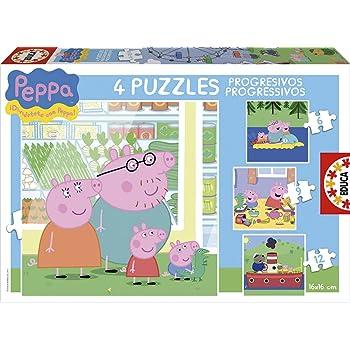 Educa Peppa Pig Kinder-Puzzle, progressiv, 6,9,12 und 16 Teile, ab 3 Jahre (15918)