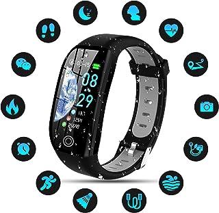 Pulsera de Actividad, Reloj Inteligente Smartwatch Impermeable IP68 Pulsera Inteligentes con Pulsómetro Podómetro Calorías Pulsera Deporte para Android y iOS para Hombre Mujer Niños