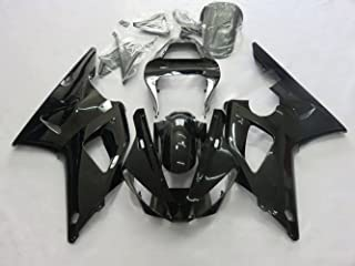 ZXMOTO Motorcycle Bodywork Fairing Kit For YAMAHA YZF R1 YZF R1000 2000-2001 Painted Glossy Black