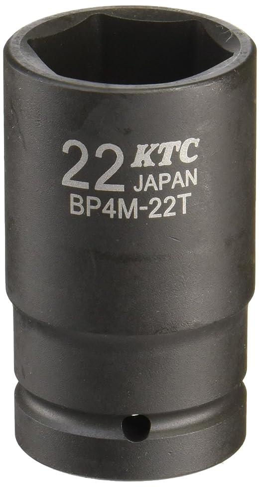 同盟脚椅子京都機械工具(KTC) インパクトレンチ用ソケット BP4M22TP 対辺寸法:22×差込角:12.7×全長:52mm セミディープ薄肉 1個