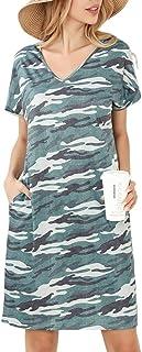 Gnpolo Womens Casual Dress Summer Dresses Pockets Short Sleeve T Shirt Flowy Midi Tshirt Dress