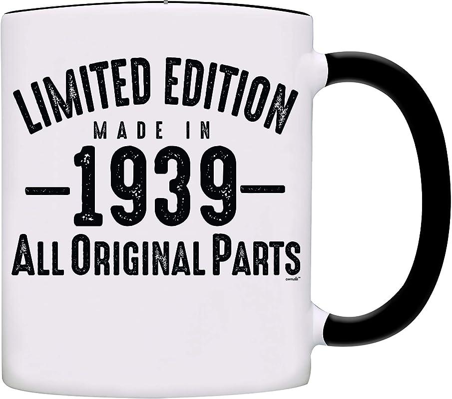 Mug 1939 80th Birthday Gifts Limited Edition Made In 1939 All Original Parts Coffee Mug 1939 0069 Black
