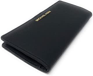 Michael Kors Jet Set Travel Saffiano Leather Bifold Wallet Black