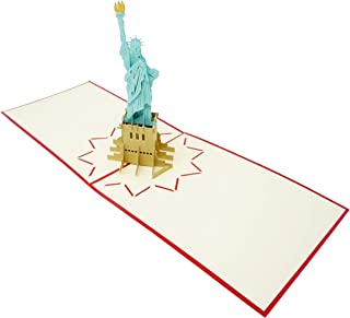 Statue of Liberty - 3D Pop Up Greeting Card for All Occasions - Travel, Love, Birthday, Retirement, Congrats, Thank You, Get Well, Christmas - Fold Flat, Envelope Included