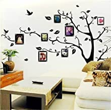 Vinyl Wall Decal Wall Stickers Art Decor Family Photos Frame Tree Flowers and Birds