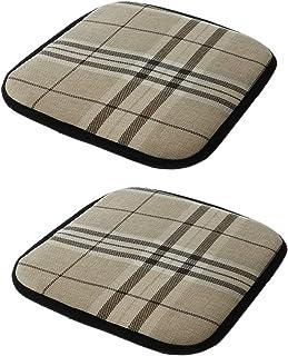 2 Unids Almohadilla Cojín para Sillas de Comedor Oficina Coche Asiento Cuadrado 30x30 cm