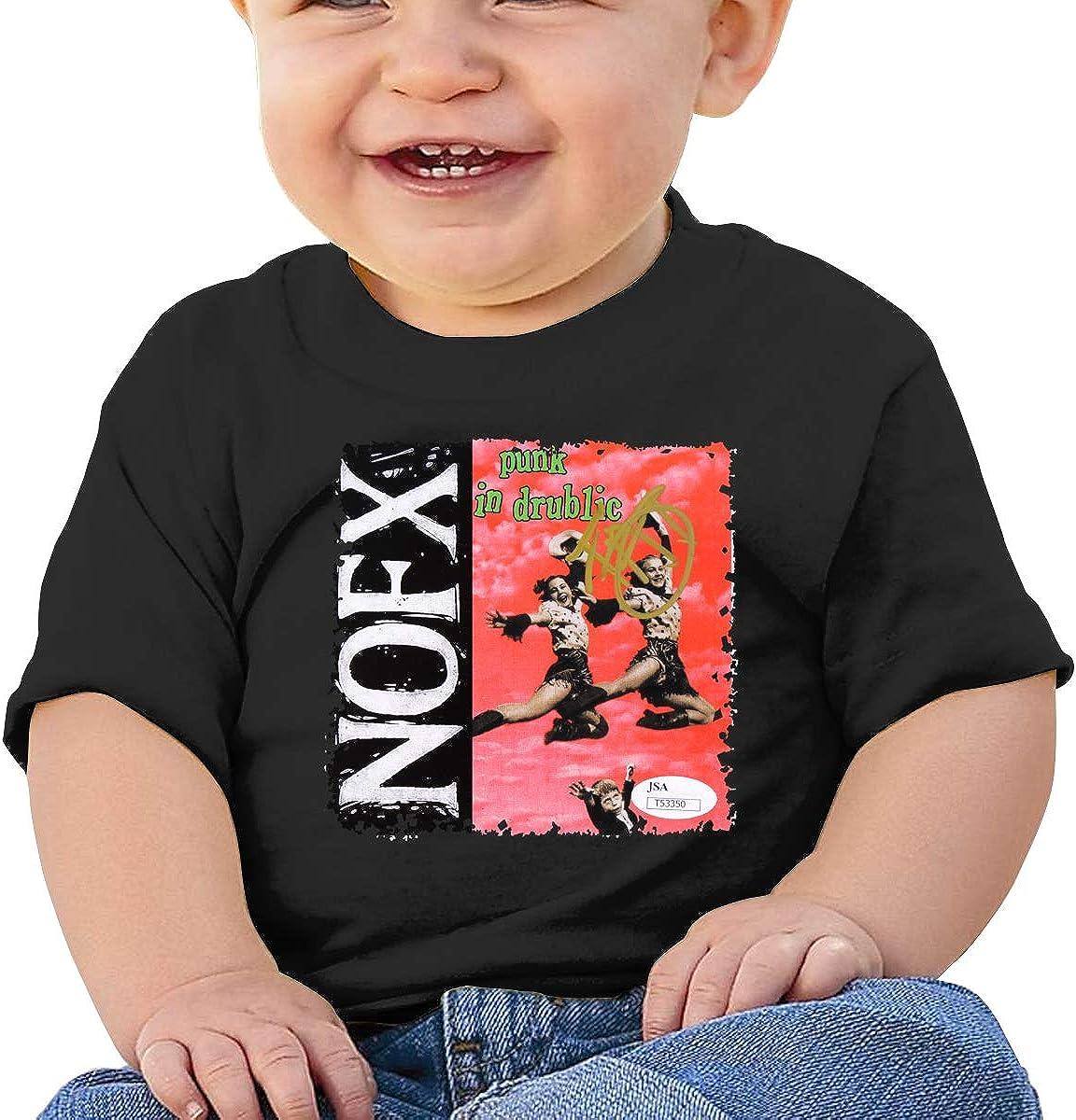 Baby NOFX-Punk in Drublic Shirt Toddler Cotton Tee Black