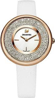 Swarovski Crystalline Pure Watch - Leather Strap - White - Rose Gold Tone - 5376083