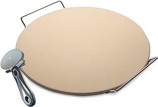 35,6 cm 30,5 cm beige Pizzaschieber aus Holz Griff Brotrolle Kuchen K/üche Pizzaschieber aus Massivholz