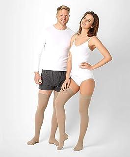 ®BeFit24 Medias de Compresión Ligera (18 mmHg, 70 Denieres) para Hombres y Mujeres - Ideal para Edema, Varices, Embarazo, Circulación Sanguínea y Recuperación - [ Size 3 - Long: A - Beige ]