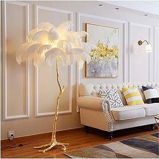 MEILINL Lampadaire Moderne Lampadaire Exquis en Plumes D'autruche avec 3 Modes D'éclairage avec Luminosité Réglable LED St...