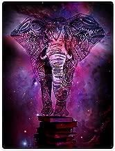 TSlook Throw Blankets Fleece Blanket for Sofa Bed Mandala Elephant India Style Galaxy Nebula Book 60