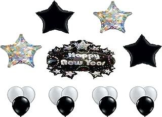 Partysupplybyspursgrl Happy New Year Black & Silver Theme Balloon Bouquet