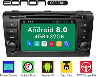 Android Auto CarPlay Car Stereos, Double 2 Din Car Stereo Radio,Eonon Android 8.0 Head Unit Octa-Core 8 Inch in Dash Touch Screen Applicable to Mazda Speed 3 2004-2009 Support WiFi,Fastboot -GA9151B
