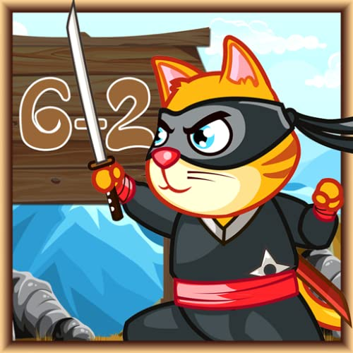 Ninja Cat matemáticas sobrevive