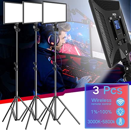 Kit de iluminación de soporte de luz de vídeo LED – Bi-Color 2900K-6000K 30 W Panel LED regulable 6,25 pies soporte de luz ajustable Canon Nikon Pentax cámara videocámara estudio disparo