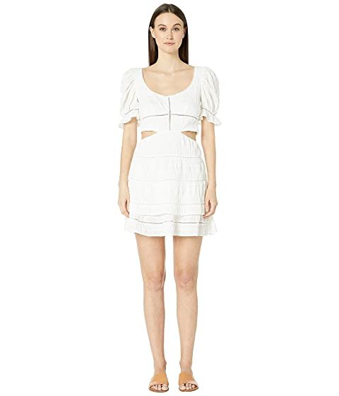 Jonathan Simkhai Lace Combo Cut Out Mini Dress Cover-Up