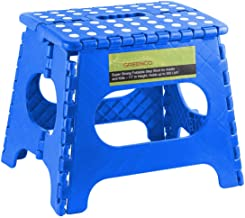 """Greenco GRC0050E Super Strong Foldable Step Stool for Adults and Kids, 11"""", Blue"""