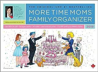 2019 More Time Moms Family Organizer Wall Calendar