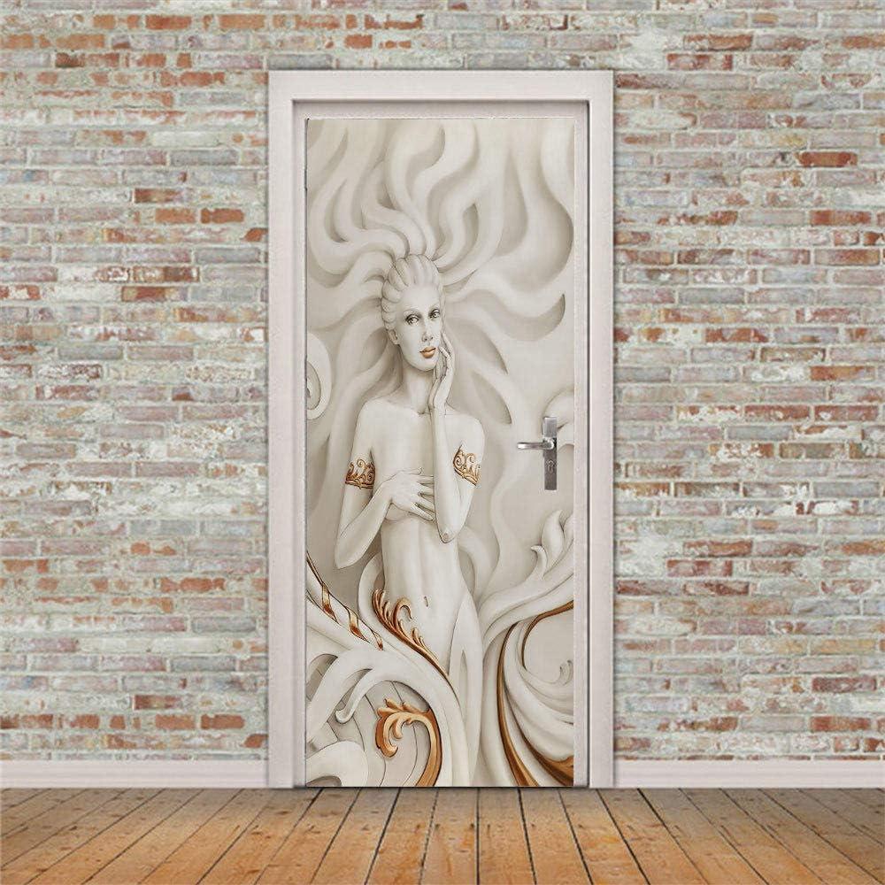 3D Overseas parallel import regular item Max 48% OFF Stickers Door Decoration Goddess