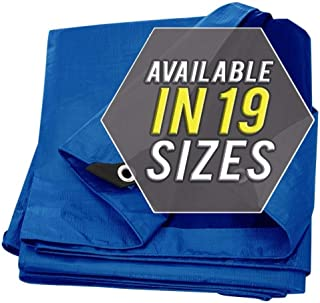 Tarp Cover Blue Waterproof 50x100 Great for Tarpaulin Canopy Tent, Boat, RV Or Pool Cover!!! (Standard Poly Tarp 50'X100')