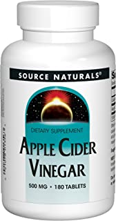 Source Naturals Apple Cider Vinegar 500mg Dietary Supplement - 180 Tablets (Pack of 2)
