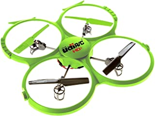 Force1 Drone with Video Camera 720p HD Camera Headless Mode 360° Flips UDI 818A HD Drones for Beginners Lime Green RC Quad...