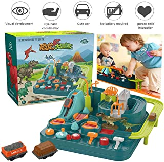 Car Track Toy Interactive Competition Toy Parents and Adventure Racing Toy Macarons Train Set Educational Toys New Concept Dinosaur Car Big Adventure Track Toy As A Child Gift Learning Play Set