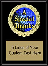 Express Medals 5x7 Black Color Thank You Plaque Award Trophy with Engraved Plate FCL550