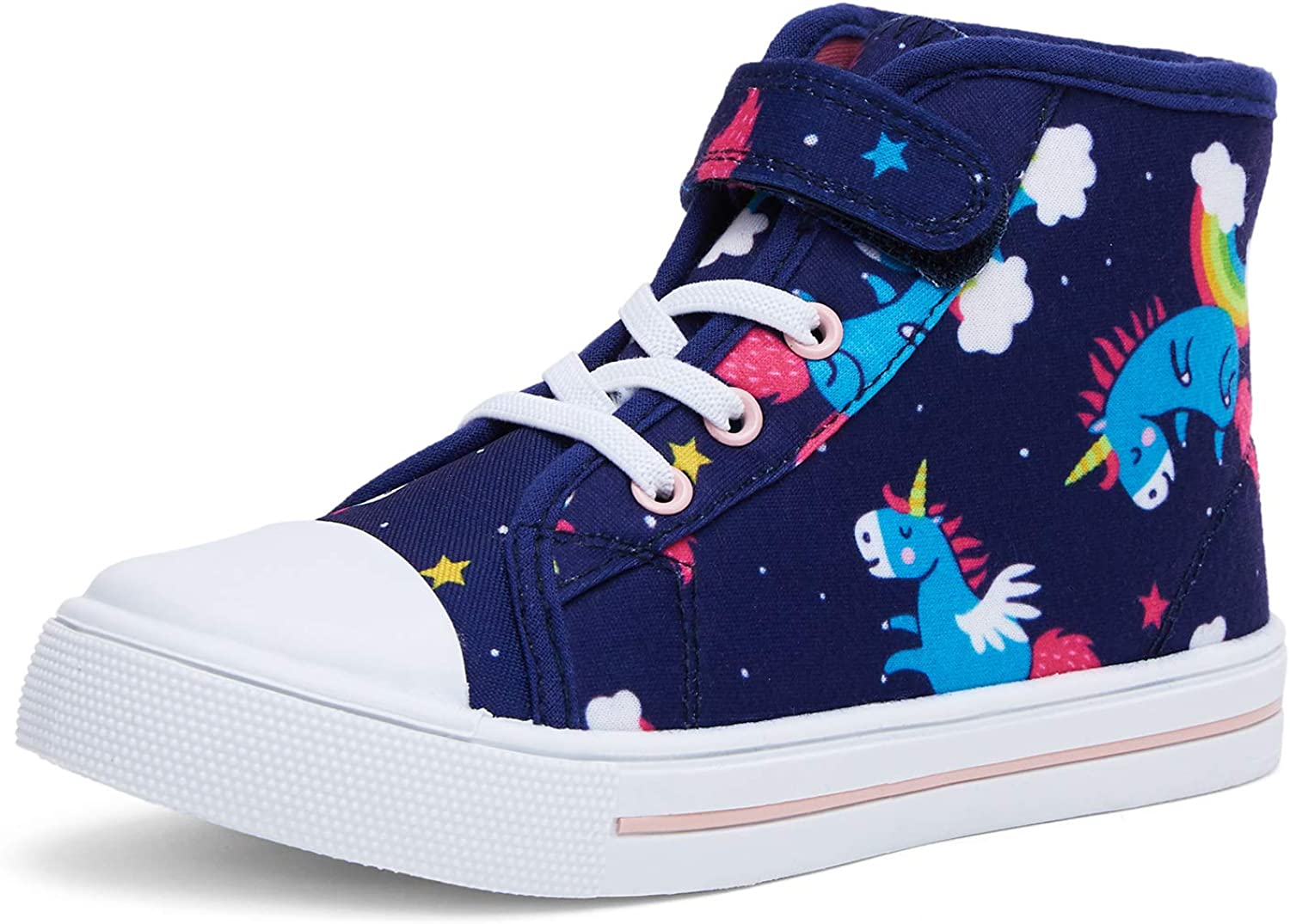 K KomForme Toddler Girls Popular and High-top Max 90% OFF Boys Sneak Sneakers Canvas