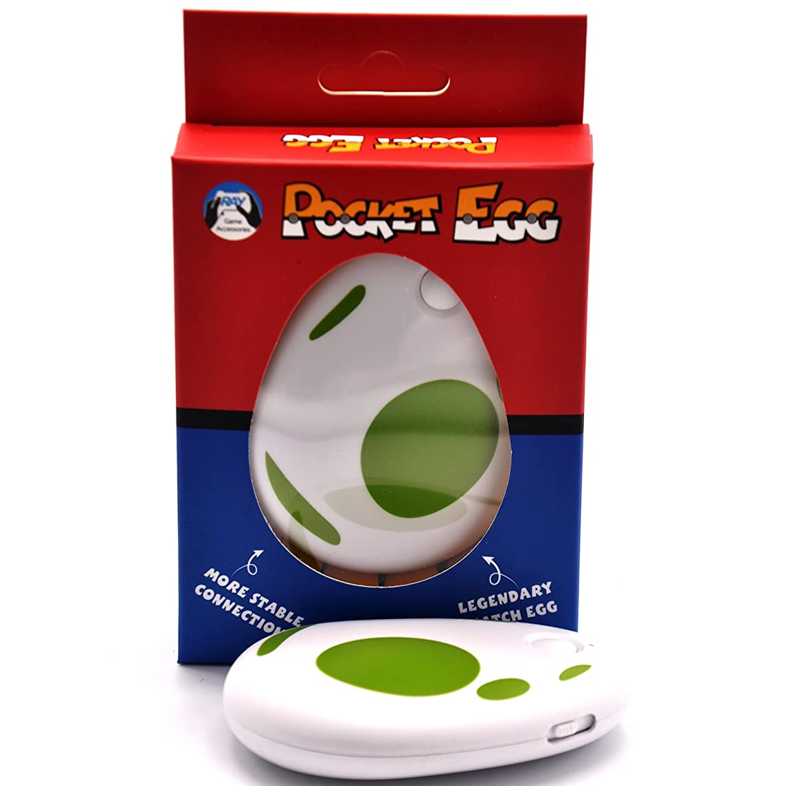 CtrlDepot Pocket Egg Toys Compatible for Pokemon Go Plus Auto Catch & Collect Catcher Bluetooth Interactive for iOS 12.0/Android 8.0 (Green)