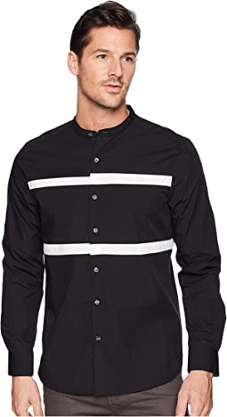Collarband Pieced Shirt