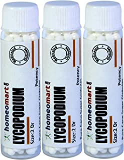 Homeomart.com Lycopodium 2 Dram Globules in 200C Potency Pack of 3