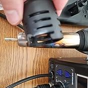 Yihua 8786D I Estaci/ón de soldadura y retrabajo de aire caliente con pantalla de /°F//C aire fr/ío//caliente correcci/ón digital de temperatura 200 /°C ~ 480 /°C ajustable funci/ón de sue/ño y m/ás.