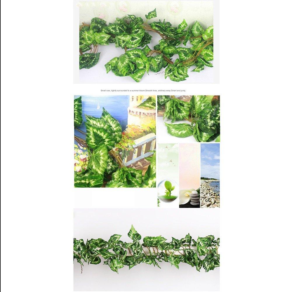 Plantas Artificiales Vid 1 Unidsx270 Cm Tela De Seda De La Guirnalda Vid Verde Hoja Vid Falsa Con Hojas Verdes Guirnalda Colgando Vid Casa Hotel Oficina De La Boda Decoración De Arte