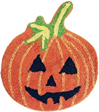 Halloween Pumpkin Round Bath Rug, Decorative Mat Accessory for Bathroom Home Decoration and Party Decor 20 in