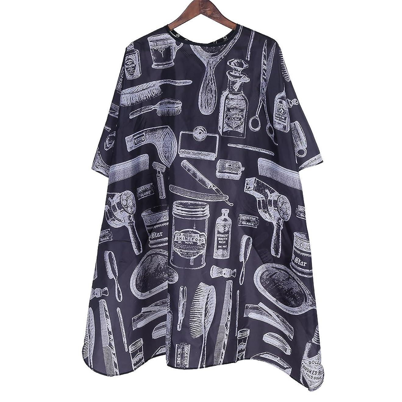 アベニューチェリーセンサープロのサロンケープ、サロン理髪理髪美容髪カットボタン襟ガウンケープ布