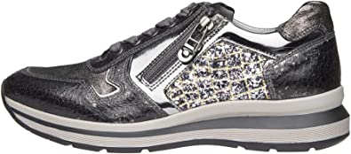 Nero Giardini A806570D Sneakers Donna in Pelle, Tela E Vernice